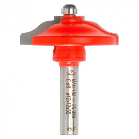 Mèche plate-bande à doucine Q. 8 x D. 42 x Lt. 55 mm + Guide à billes - 620025 - Sidamo