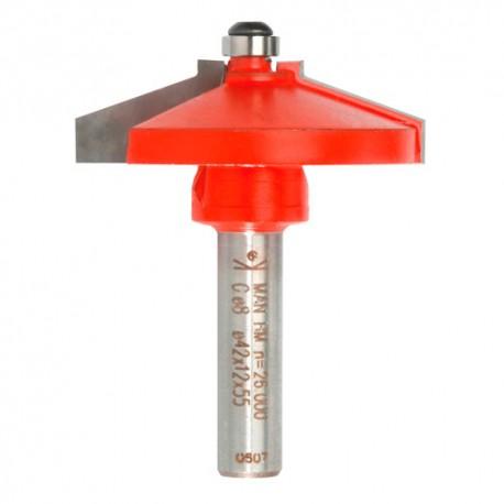 Mèche plate-bande Q. 8 x D. 42 x Lt. 55 mm + Guide à billes - 623015 - Sidamo