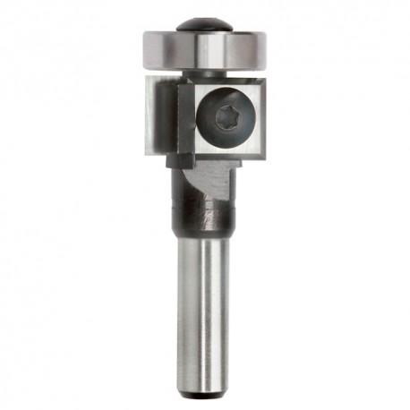 Mèche à affleurer 2 plaquettes Q. 6 x D. 19 x Lt. 60 mm + Guide à billes - 625003 - Sidamo