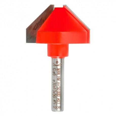 Mèche d'affleureuse chanfrein 32° Q. 8 x D. 25 x Lt. 50 mm - 631145 - Sidamo