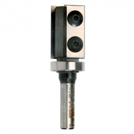 Mèche à copier à 2 plaquettes Q. 8 x D. 19 x Lt. 50 mm + Guide à billes - 651045 - Sidamo