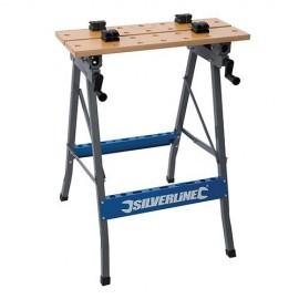 Établi de serrage de chantier à plateaux basculants, charge max 150 kg - TB05 - Silverline