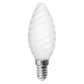 Ampoule LED-S19 filament flamme opaque torsadée CA 35 - E 14 - 4 W - 4 000 K - 425 Lm