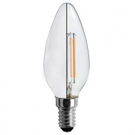 3 Ampoules LED-S19 filament flamme opaque C 37 - E 14 - 4 W - 360° - 2 700 K - 400 Lm