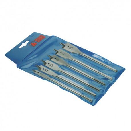 Asssortiment de 6 mèches à bois plate D. 10 12 16 22 et 25 mm 850 - UR-5010850 - Urko