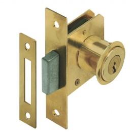 2 serrures à cylindre pour meubles à emboutir 70 x 15 mm D. 20 x L. 19 mm - Type 22 - UR-7101025/50x2 - Urko