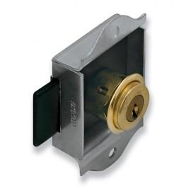 2 serrures à cylindre D. 20 x L. 10 mm pour meubles métalliques - Type 26 - 7105020x2 - Urko