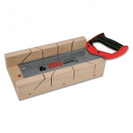 """Kit boîte à onglet 300 x 110 x 50 mm + Scie égoïne L 300 mm 12"""" 505 - UR-9050501 - Urko"""