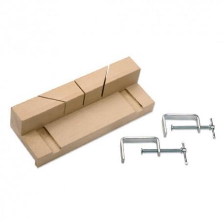 Kit boîte à onglet 250 x 57 x 35 mm + 2 brides de marqueterie mod. 21-B - 10 - UR-9050506 - Urko