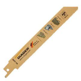5 lames de scie sabre BIM pas variable x Lu. 205 mm spécial palette