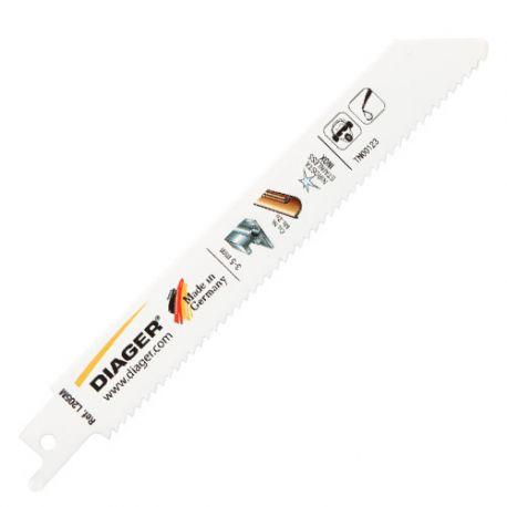 5 lames de scie sabre BIM pas de 2,5 x Lu. 130 mm métal/inox/cuivre