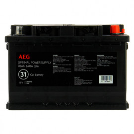 Batterie Optimal power supply n°31 - 640 A - 70 Ah 12 V - AEG