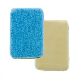 Eponge chamoisée - microfibre essuie-vitre L. 120 x l. 80 x Ep. 40 mm - Carlinéa