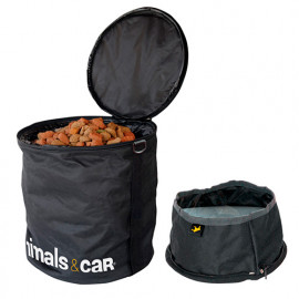 Kit pliable sac à croquettes 4 kg + écuelle - Animals and Car