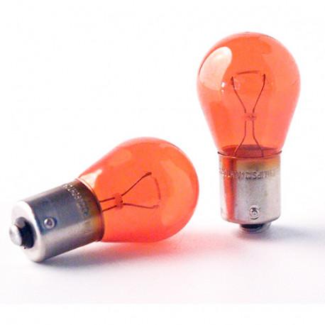 2 Ampoules Vision ambrées PY21W - 12 V - BAU15s - 21W - Clignotant - Philips