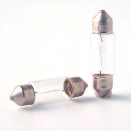 2 Ampoules Vision C5W - 12 V - SV8,5 - 5W - Eclairage de plaque - Plafonnier - Boîte à gants - Coffre - Philips