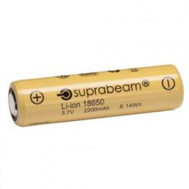 1 Pile rechargeable Li-Ion 18650 - 8,14 W 2,2 Ah pour lampe de poche Q3r - Q4xr