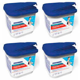 4 seaux de chlore multiactions en galet 250 g - 5 kg AstralPool