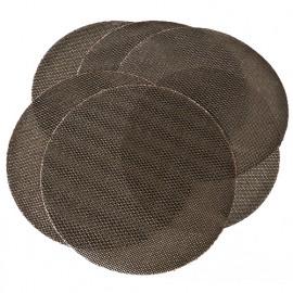6 disques traillis abrasifs auto-agrippant D. 180 mm grain 3x180 + 3x240 - Spécial Plâtre