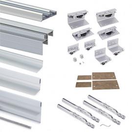 Kit armoire Space+ 2 portes avec profils Free rapid et fermeture amortie