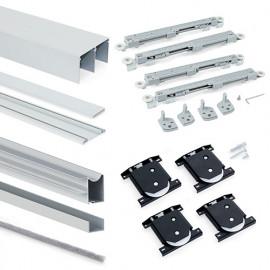 Kit armoire Placard 2 portes avec profils Wave18 et fermeture amortie