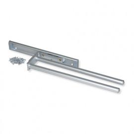 Porte-serviettes extensible à 2 bras longueur 310 mm en aluminium anodisé mat
