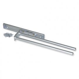 Porte-serviettes extensible à 2 bras longueur 440 mm en aluminium anodisé mat