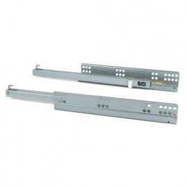Paire de coulisses invisibles pour tiroir Silver à sortie partielle amortie pour tiroir profondeur 340 mm