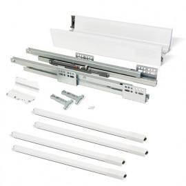 Kit de tiroir Vantage-Q hauteur 204 mm et profondeur 500 mm avec tringles finition blanc