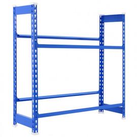 Étagère métallique 2 niveaux - 1000 x 800 x 300 mm - KIT SIMONBOTTLE - Bleu