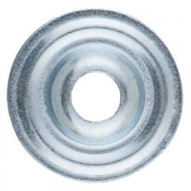 100 Rosaces plates zinguées pour colliers D. 25 x H. 3 mm
