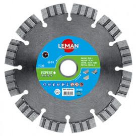 Disque diamant segmenté D. 160 x Al. 20 x Ht. 12 x ép. 2,6 mm. Quartz, granit - 630160 - LEMAN