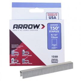 Boîte de 1250 agrafes T50 14 mm - 0160814 - Arrow