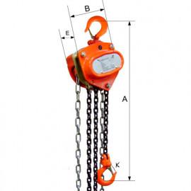 Palan à main à chaîne 6044 - 1 000 Kg - 3 mètres