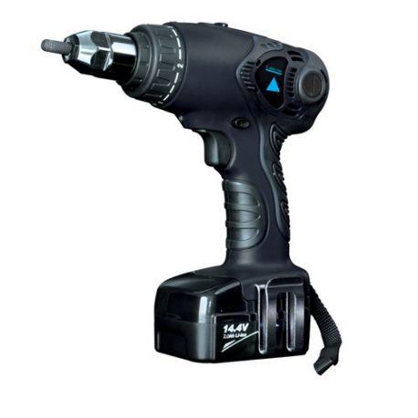 Sertisseuse sans fil pour écrou M4 à M6 avec deux batteries 14,4 V
