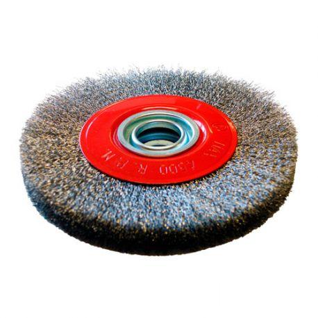 Brosse circulaire D.250 x 20 x 25 mm - Fils de 0,3 mm ondulés Inox - 10306022