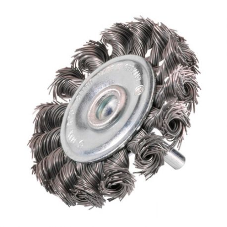 Brosse circulaire sur tige D.100 mm - Mèches de 0,5 mm torsadées en acier - 10310010