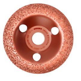 Plateau à poncer carbure - D.125 x 22,23 mm Gr 36 Convexe - Carbocup - multi-matériaux - 10805033