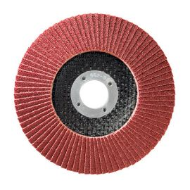 10 disques à lamelles corindon D.115 x 22,23 mm Gr 80 A Convexe Lamdisc support fibre - 11001004