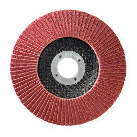 10 disques à lamelles corindon D.115 x 22,23 mm Gr 120 A Convexe Lamdisc support fibre - 11001005