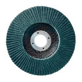 10 disques à lamelles zirconium D.125 x 22,23 mm Gr 60 Z Convexe Lamdisc support fibre - 11001030
