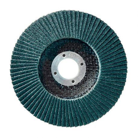 10 disques à lamelles zirconium D.125 x 22,23 mm Gr 120 Z Convexe Lamdisc support fibre - 11001032