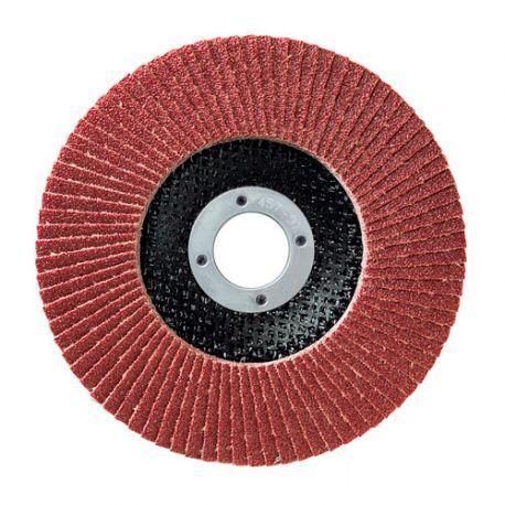 10 disques à lamelles corindon D.125 x 22,23 mm Gr 60 A Plat Lamdisc support fibre - 11001038