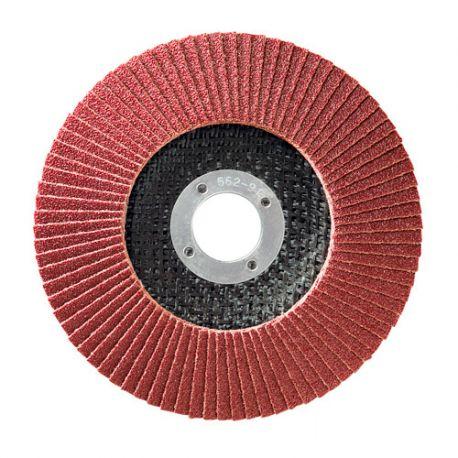 10 disques à lamelles corindon D.125 x 22,23 mm Gr 120 A Convexe Lamdisc support fibre - 11001041