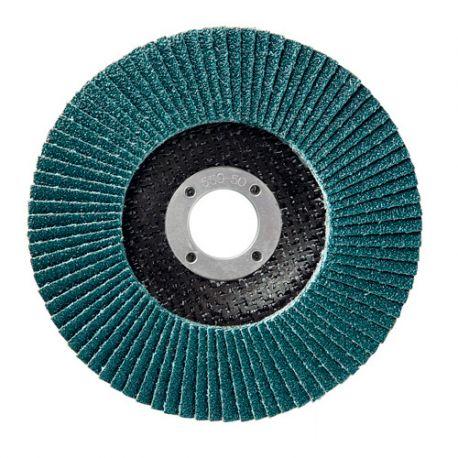 10 disques à lamelles zirconium D.125 x 22,23 mm Gr 60 Z Plat Lamdisc support fibre - 11001043