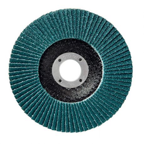 10 disques à lamelles zirconium D.125 x 22,23 mm Gr 80 Z Plat Lamdisc support fibre - 11001044