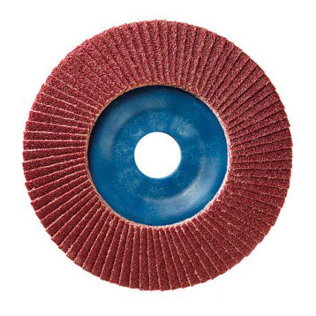 10 disques à lamelles corindon D.125 x 22,23 mm Gr 80 A Plat Lamdisc support nylon - 11001057