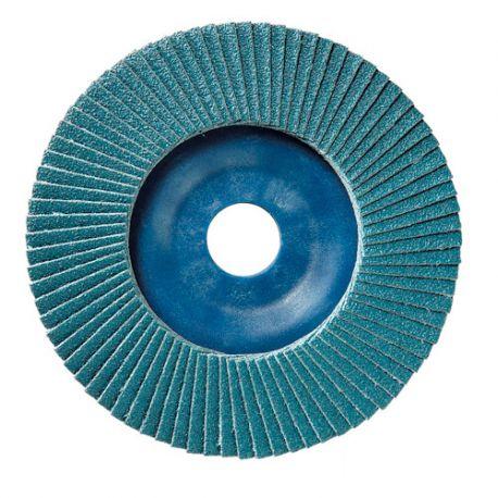 10 disques à lamelles zirconium D.125 x 22,23 mm Gr 80 Z Plat Lamdisc support nylon - 11001065