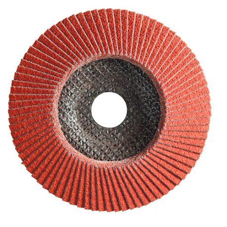 10 disques à lamelles céramique D.125 x 22,23 mm Gr 60 Convexe Lamextra support fibre - 11001201