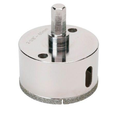 Trépan diamant à eau D.67 x 35 mm sur tige - Céramique/Grès/Granit - 11101414